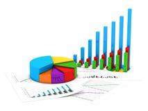 Διαγράμματα χρηματοδότησης διανυσματική απεικόνιση