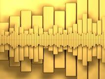 διαγράμματα χρυσά Στοκ Εικόνες