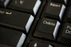 Διαγράψτε το κουμπί Στοκ Εικόνα