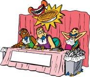 διαγωνισμός που τρώει την πίτα ελεύθερη απεικόνιση δικαιώματος