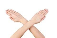 διαγώνια απομονωμένη χέρια  στοκ φωτογραφίες με δικαίωμα ελεύθερης χρήσης