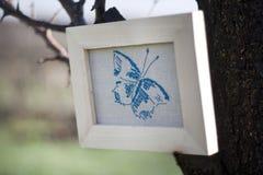 Διαγώνια βελονιά πεταλούδων Στοκ φωτογραφίες με δικαίωμα ελεύθερης χρήσης