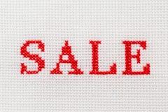 Διαγώνια βελονιά πώλησης λέξης κεντητικής Στοκ φωτογραφίες με δικαίωμα ελεύθερης χρήσης
