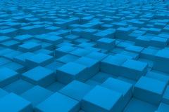 Διαγώνια επιφάνεια φιαγμένη από ανοικτό μπλε κύβους Στοκ Εικόνες