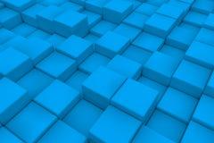 Διαγώνια επιφάνεια φιαγμένη από ανοικτό μπλε κύβους Στοκ εικόνα με δικαίωμα ελεύθερης χρήσης
