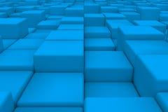 Διαγώνια επιφάνεια φιαγμένη από ανοικτό μπλε κύβους Στοκ Εικόνα