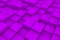 Διαγώνια επιφάνεια φιαγμένη από ιώδεις κύβους Στοκ εικόνα με δικαίωμα ελεύθερης χρήσης