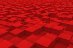 Διαγώνια επιφάνεια φιαγμένη από κόκκινους κύβους Στοκ Εικόνες