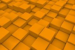 Διαγώνια επιφάνεια φιαγμένη από πορτοκαλιούς κύβους Στοκ Φωτογραφίες
