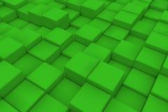 Διαγώνια επιφάνεια φιαγμένη από πράσινους κύβους Στοκ Εικόνες