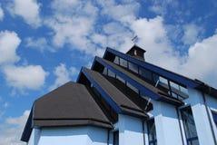 διαγώνια ιερή σύγχρονη στέγη εκκλησιών Στοκ Εικόνες