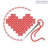 διαγώνια καρδιά stich Στοκ εικόνες με δικαίωμα ελεύθερης χρήσης