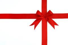 διαγώνια κόκκινη κορδέλλ& Στοκ εικόνες με δικαίωμα ελεύθερης χρήσης