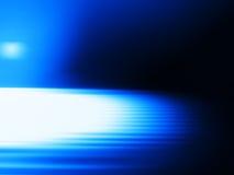 Διαγώνια μπλε θαμπάδα κινήσεων με το ελαφρύ υπόβαθρο διαρροών Στοκ Εικόνα