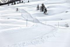 Διαγώνια να κάνει σκι χωρών διαδρομή, Ιταλία Στοκ Φωτογραφίες