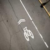 Διαγώνια πάροδος ποδηλάτων στοκ εικόνες