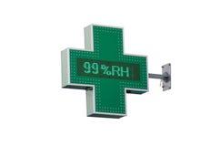 Διαγώνια πινακίδα φαρμακείων στοκ φωτογραφίες με δικαίωμα ελεύθερης χρήσης
