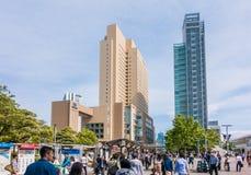 Διαγώνια πολυκαταστήματα πυλών Yokohama στον κόλπο Yokohama Στοκ φωτογραφία με δικαίωμα ελεύθερης χρήσης