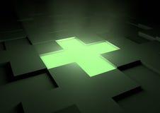 διαγώνια πυράκτωση ιατρι&kap διανυσματική απεικόνιση