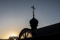 Διαγώνια σκιαγραφία εκκλησιών θόλων Στοκ εικόνες με δικαίωμα ελεύθερης χρήσης