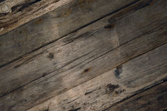 Διαγώνια σύσταση υποβάθρου σανίδων Driftwood Στοκ φωτογραφίες με δικαίωμα ελεύθερης χρήσης
