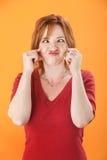 διαγώνια eyed γυναίκα στοκ φωτογραφίες με δικαίωμα ελεύθερης χρήσης