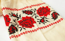 διαγώνια floral βελονιά Ουκρ&al Στοκ φωτογραφία με δικαίωμα ελεύθερης χρήσης