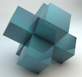 Διαγώνιοι κύβοι Στοκ Φωτογραφία