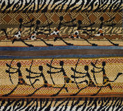 Διαγώνιος-βελονιά στο αφρικανικό ύφος Στοκ φωτογραφία με δικαίωμα ελεύθερης χρήσης