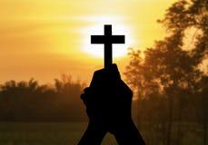 Διαγώνιος ιερός και προσευχόμενος Στοκ Εικόνες
