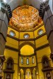 Διαγώνιος καθεδρικός ναός Φλωρεντία Ιταλία JDome Duomo νωπογραφίας Vasari βωμών στοκ φωτογραφία με δικαίωμα ελεύθερης χρήσης