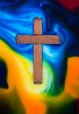 Διαγώνιος ξύλινος χρωμάτων Στοκ Εικόνες
