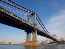 Διαγώνιος ποταμός γεφυρών του Μανχάταν, Νέα Υόρκη Στοκ Εικόνα