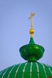 διαγώνιος χρυσός θόλων πρά Στοκ φωτογραφία με δικαίωμα ελεύθερης χρήσης