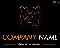 Διαγώνιο διανυσματικό πρότυπο λογότυπων, έτοιμο logotype για μια επιχείρηση ή ένα BR Στοκ εικόνα με δικαίωμα ελεύθερης χρήσης