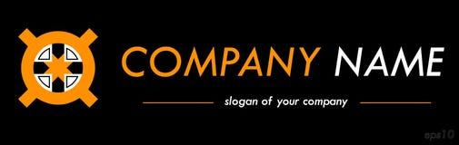 Διαγώνιο διανυσματικό πρότυπο λογότυπων, έτοιμο logotype για μια επιχείρηση ή ένα BR Στοκ φωτογραφία με δικαίωμα ελεύθερης χρήσης