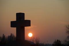 διαγώνιο ηλιοβασίλεμα Στοκ Εικόνα