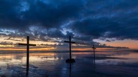 Διαγώνιο ηλιοβασίλεμα σύννεφων Στοκ εικόνα με δικαίωμα ελεύθερης χρήσης