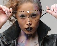 διαγώνιο κορίτσι γοτθικ Στοκ Φωτογραφία