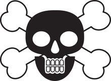 διαγώνιο κρανίο θανάτου &kapp Απεικόνιση αποθεμάτων