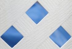 διαγώνιο λευκό φραγών Στοκ φωτογραφίες με δικαίωμα ελεύθερης χρήσης