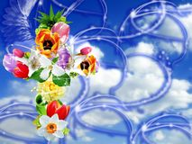 διαγώνιο λουλούδι φαντ&al Στοκ Εικόνες