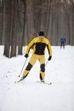 διαγώνιο να κάνει σκι ατόμ&ome Στοκ Εικόνες