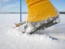 διαγώνιο να κάνει σκι χωρών Στοκ Φωτογραφία