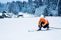 διαγώνιο να κάνει σκι χωρών Στοκ εικόνα με δικαίωμα ελεύθερης χρήσης