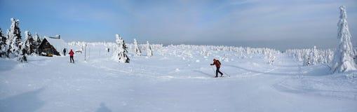 διαγώνιο να κάνει σκι χωρών Στοκ Εικόνα
