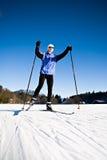 διαγώνιο να κάνει σκι χωρώ&nu Στοκ φωτογραφία με δικαίωμα ελεύθερης χρήσης