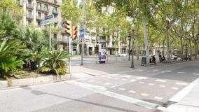 Διαγώνιο πανόραμα λεωφόρων, Βαρκελώνη απόθεμα βίντεο
