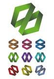 Διαγώνιο στοιχείο λογότυπων κορδελλών σχεδίου Στοκ εικόνες με δικαίωμα ελεύθερης χρήσης