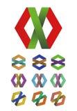 Διαγώνιο στοιχείο λογότυπων κορδελλών σχεδίου Στοκ Εικόνες